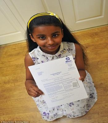 Bé gái thần đồng 10 tuổi có chỉ số IQ cao hơn Einstein