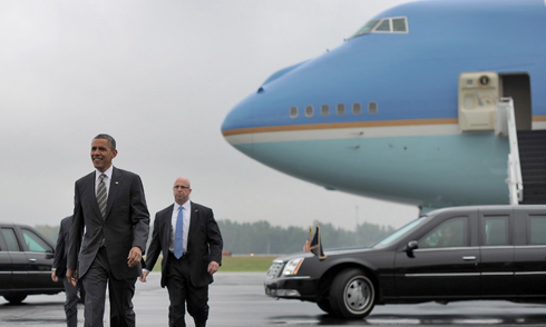 5 chuyên cơ và 800 người hộ tống Tổng thống Mỹ sẽ đến Việt Nam