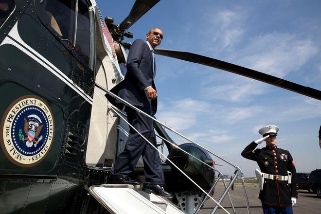 Trực thăng hộ tống Tổng thống Mỹ Obama chạy thử ở Nội Bài - ảnh 6