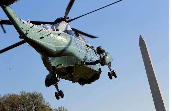 Trực thăng hộ tống Tổng thống Mỹ Obama chạy thử ở Nội Bài - ảnh 7