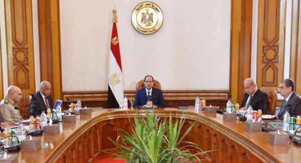 [Caption]President Abdul Fattah al-Sisi convened Egypt's National Security Council to discuss the disappearance of the EgyptAir plane.