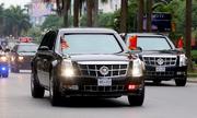 Đoàn xe của Tổng thống Obama tiến vào Phủ chủ tịch