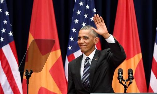 Những lần Obama gặp trục trặc với máy nhắc chữ 1