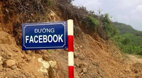 Đường của các fan hâm mộ facebook.