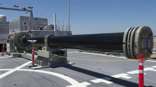 Pháo điện từ có thể bắn thủng tàu chiến đối phương của hải quân Mỹ 1
