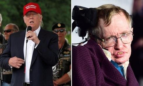Stephen Hawking khó hiểu trước độ nổi tiếng của Donald Trump