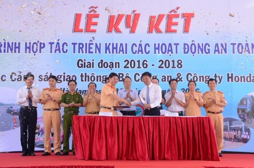 Honda Việt Nam đào tạo lái xe cho CSGT 1