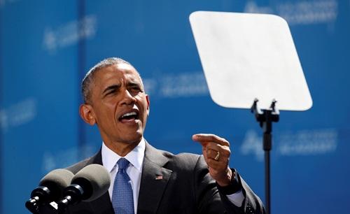 Tổng thống Mỹ Barack Obama hôm qua phát biểu tại Colorado Springs. Ảnh: Reuters
