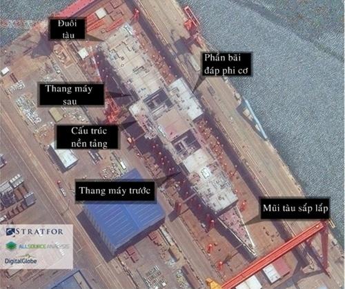 Ảnh hé lộ tiến độ hoàn thiện tàu sân bay mới của Trung Quốc 1