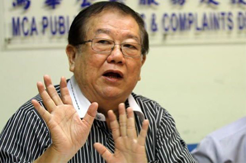 Trưởng Ban Khiếu nại Công cộng đảng MCA, ông Michael Chong. Ảnh: Mstar