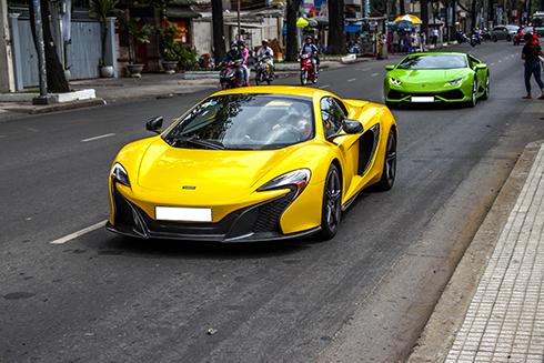 Bộ đôi siêu xe Huracan và McLaren 650S của đại gia Sài Gòn 1