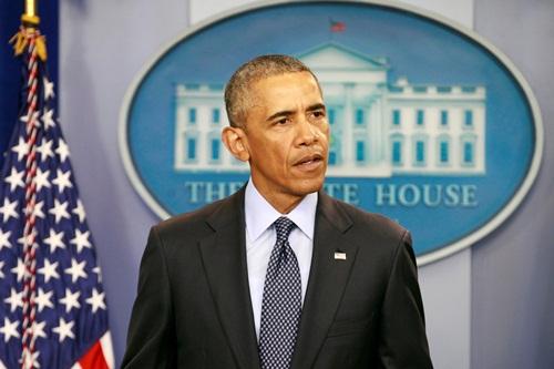 Tổng thống Mỹ Barack Obama lên án vụ xả súng tại Orlando, trong cuộc họp báo hôm qua ở Nhà Trắng. Ảnh: Reuters