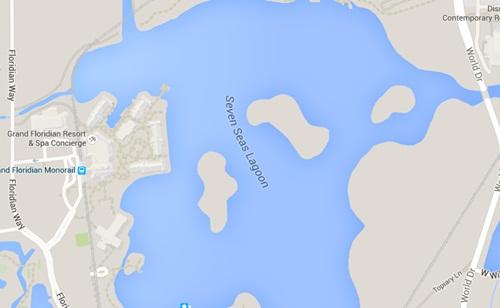 Vị trí khu nghỉ dưỡng và phá Seven Seas