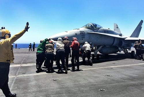 Tàu sân bay Mỹ - quả đấm thép giáng vào IS 1