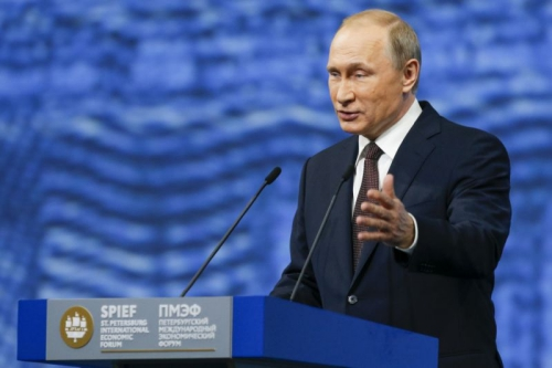 Tổng thống Nga hôm qua phát biểu tại diễn đàn