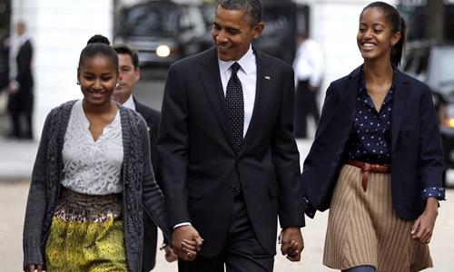 Tình yêu thương của Obama dành cho hai con gái 3