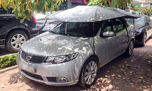 Ô che nắng cho ôtô ngày hè tại Việt Nam 1