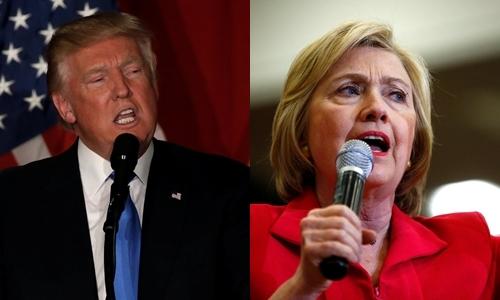 Donald Trump, ứng viên tổng thống đảng Cộng hòa , và bà Hillary Clinton, ứng viên đảng Dân chủ. Ảnh: Reuters.