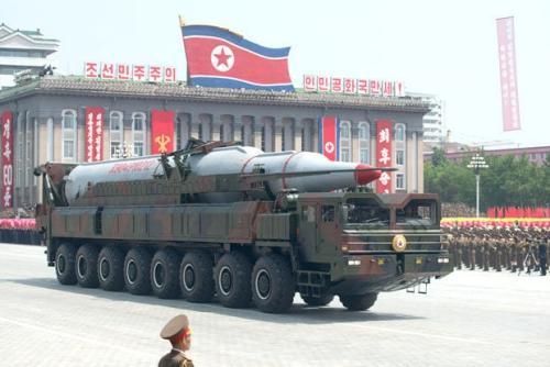 Tên lửa Musudan của Triều Tiên. Ảnh: AFP