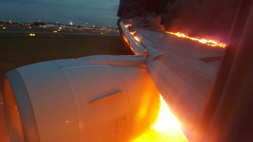 The right wing of SQ368 caught fire after landing at Changi Airport on Monday morning (Jun 27).