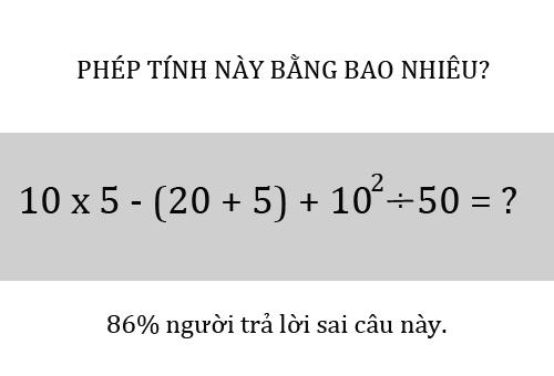 Bạn có giải được bài toán khó nhằn này không - Xem đáp án