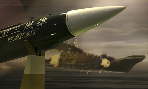 Ttên lửa diệt hạm siêu thanh Hùng Phong III của Đài Loan. Ảnh: Military.com