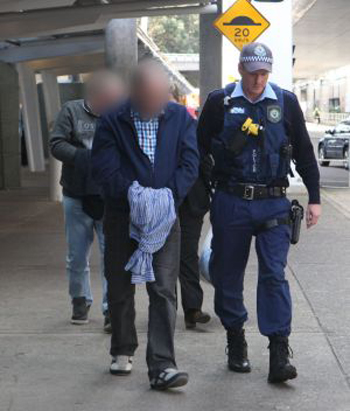 The two men were arrested in Ivanhoe on Tuesday and extradited to NSW. Photo: NSW Police