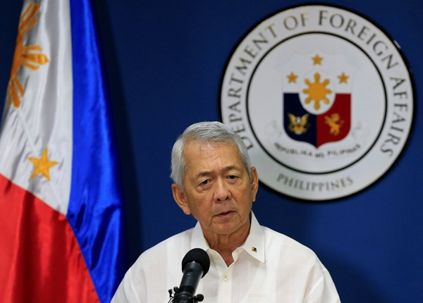 Ngoại trưởng Philippines Perfecto Yasay. Ảnh: Reuters.