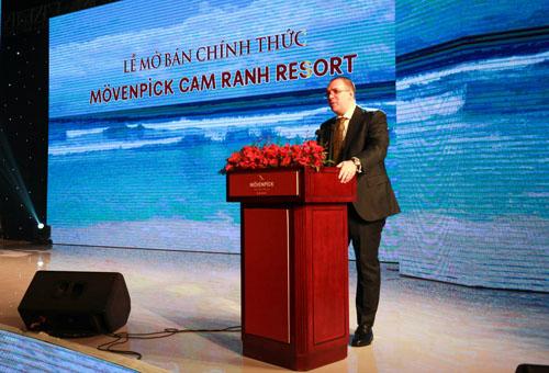 Ông Hannes Romauch, đại diện chủ đầu tư Eurowindow Holding tại sự kiện mở bán.