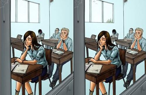 Bạn nhìn thấy có bao nhiêu điểm khác nhau giữa hai bức ảnh này?
