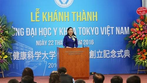 Khánh thành Đại học Y khoa Tokyo Việt Nam
