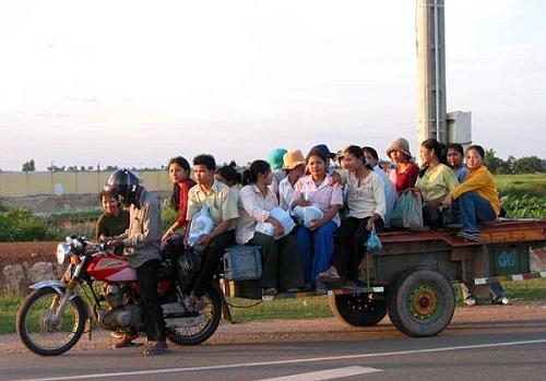 Xe buýt tự chế ở nông thôn - xe tự chế, chất nhất Việt Nam