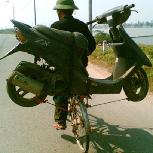 Xe đạp siêu vận chuyển - xe tự chế, chất nhất Việt Nam