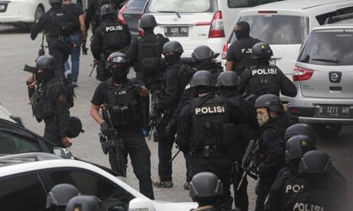 Cảnh sát Indonesia. Ảnh: AP.