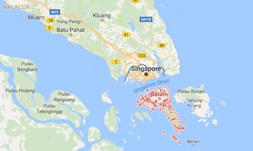 Vị trí Batam, Indonesia. Đồ họa: Google Maps.
