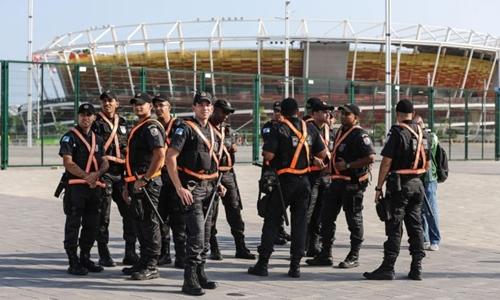 Cảnh sát Brazil làm nhiệm vụ tại Olympic 2016 ở Rio de Janeiro. Ảnh: NBC News.