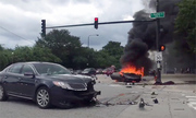 Lamborghini Huracan cháy ngùn ngụt sau tai nạn