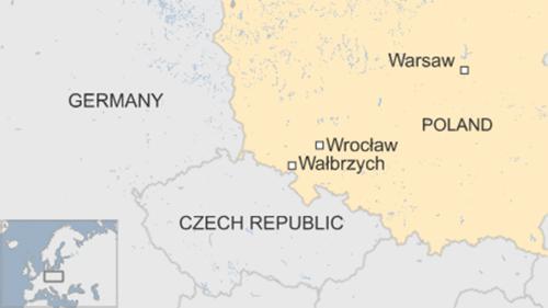 Vị trí thị trấn Walbrzych, Ba Lan. Đồ họa: BBC.