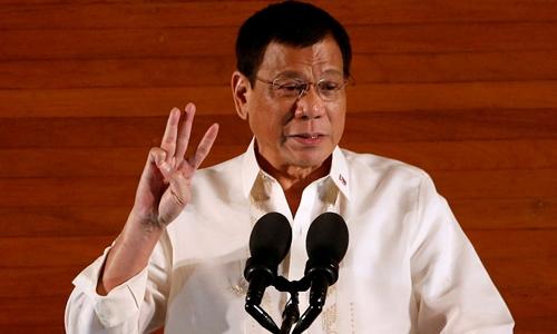 Tổng thống Philippines Rodrigo Duterte. Ảnh: Reuters.