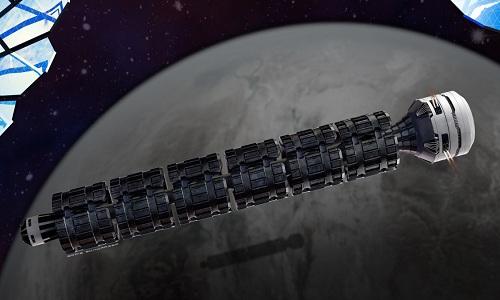 Thiết kế của tàu hỏa vũ trụ Solar Express. Ảnh: Solar Express.
