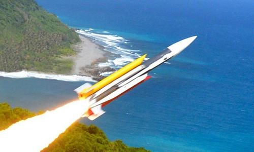 Tên lửa Hùng Phong III của hải quân Đài Loan. Ảnh: ROC Navy