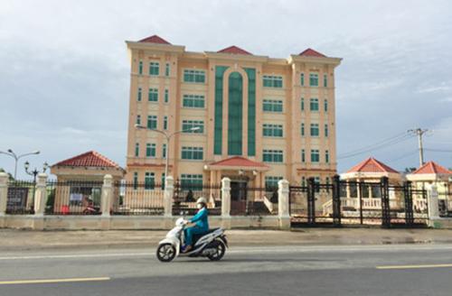 Trụ sở Công ty Minh Hiếu ở thị xã Giá Rai, tỉnh Bạc Liêu. Ảnh: Phúc Hưng