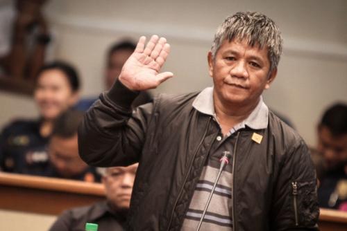 Edgar Matobato xuất hiện tại phiên điều trần hôm qua. Ảnh: Rappler