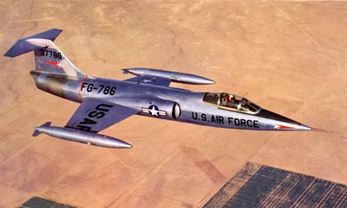 Tiêm kích F-104 Starfighter. Ảnh: USAF