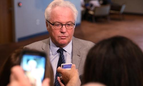 Đại sứ Nga tại Liên Hợp Quốc Vitaly Churkin. Ảnh: RT.