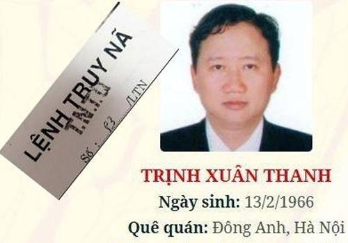 Nghi can Trịnh Xuân Thanh đang bị phát lệnh truy nã quốc tế. Ảnh: Công an nhân dân