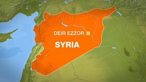 Vị trí thành phố Deir Ezzor, Syria. Đồ họa: Al Jazeera.