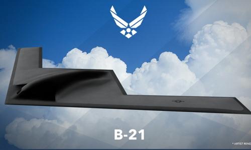 Hình vẽ phác thảo oanh tạc cơ tàng hình B-21 thế hệ 5 của Mỹ. Ảnh: USAF
