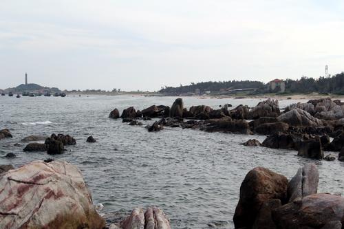 Địa chấm dự định xây dựng cảng Kê Gà. Ảnh: Phước Tuấn