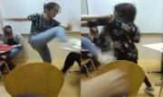 Nữ sinh viên hất ly trà sữa vào mặt đối thủ trong quán Hà Nội